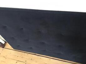 Velvet headboard