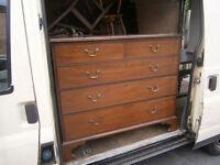 georgian / victorian mahogany chest of drawers in yeovil