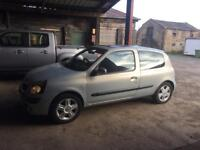 Renault Clio 1.2 Petrol Long Mot good condition