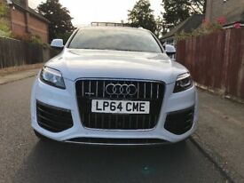Audi Q7 white 2015(64) excellent condition and low mileage with full service history