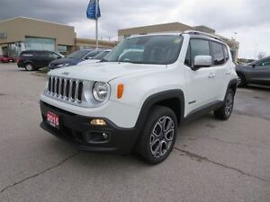 2015 Jeep Renegade Limited - 4x4  leather  roof rack  bluetooth
