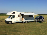 2005 ACE FIRENZA MOTORHOME, 2002 SMART CITY CABRIO CAR, SMART CAR TRAILER - WILL SPLIT IF REQUIRED