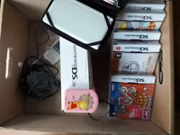 Nintendo DS Lite (White) plus 5 games and portable charger