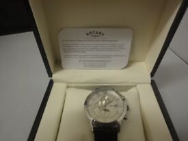 Rotary Men's Automatic Watch with White Dial Chronograph nbr PLO 006642
