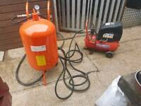 20 gallon sand blaster shot blaster with air commpressor