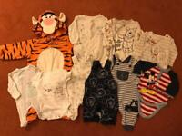 Disney baby clothes bundle -10 items- mainly 0-3m Mickey, Pooh, 101