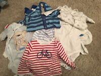 0-3 months baby boys winter bundle 29 items