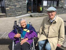 Live in carer for lovely elderly parents.