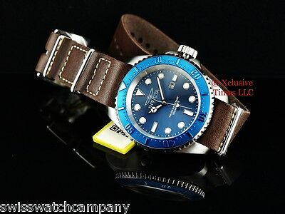 Invicta Mens Pro Diver Hydromax Japanese Quartz Leather