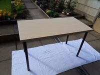 IKEA Linnmon Table 150cm x 75cm Light Oak Top with ADILS Black Legs excellent condition