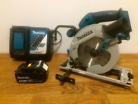Mint condition Makita Circular Saw with 5ah Battery and Fast Charger