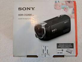 Sony handycam new in box HDR-CX240E