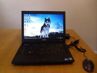 Laptop Dell Latitude E5400, windows 10, 320GB HDD, 2GB RAM plus USB mouse