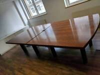 BEAUTIFUL WOOD BOARDROOM / CONFERENCE TABLE - FREE DELIVERY.
