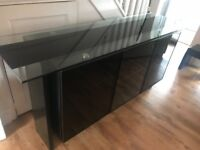 Large glass and granite sideboard