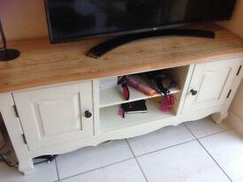 Oak Tv cabinet and Oak Display Cabinet