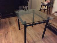 Glass side/coffee tables