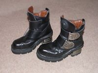 Black Ankle Boots - Ladies - NewRock