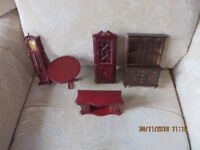 ADULTS COLLECTION DOLLS HOUSE FURNITURE- £55