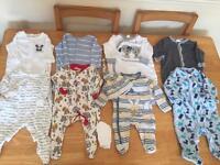 Newborn 0-1 months baby boy bundle (26 items)