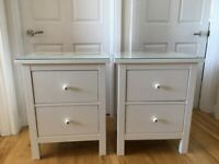 White Bedside Cabinets/Tables