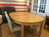 Extendable Ikea Dining Table and 4 chairs