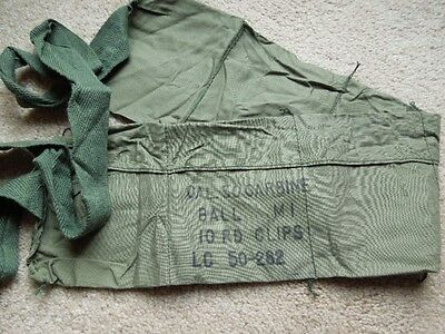 Vintage USGI Original 1972  Vietnam .30 M1 Carbine OD Six Pocket Bandoleer