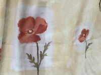 "Lovely Very Wide Curtains with Poppy Design - Each curtain measures approx. 104"" wide x 62"" drop"