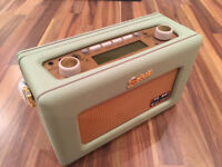 Roberts Revival RD60 DAB FM Radio in leaf green