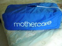 MOTHERCARE Travel Cot and Playpen, as new, in its own bag, portable.