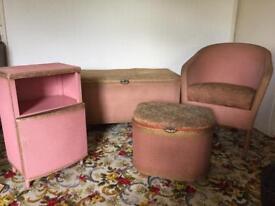 Woven bedroom furniture set
