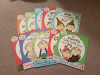 Charlie and Lola books - set of 10 in carry bag - excellent condition