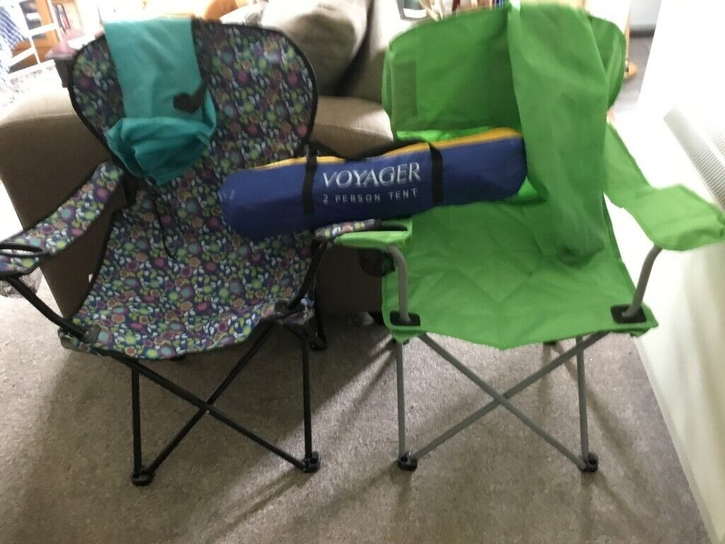Phenomenal 2 Picnic Chairs And Small Two Man Tent In Bridge Of Earn Perth And Kinross Gumtree Creativecarmelina Interior Chair Design Creativecarmelinacom
