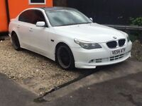 BMW 5 SERIES 3.0 530d 4dr auto diesel saloon white***m5 replica leather**p/x to clear no offers