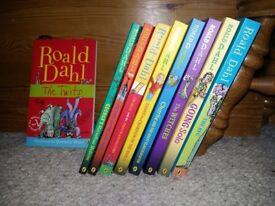 Roald Dahl Books x 9