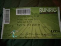 Runrig Concert Ticket