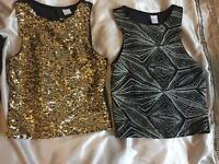 H & M sparkly tops