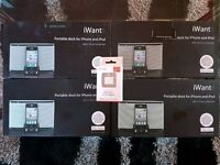 iWant iPhone & iPod Portable dock