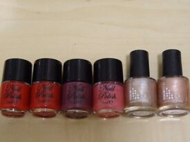 6 x Nail Varnish - Colours as shown – Unused
