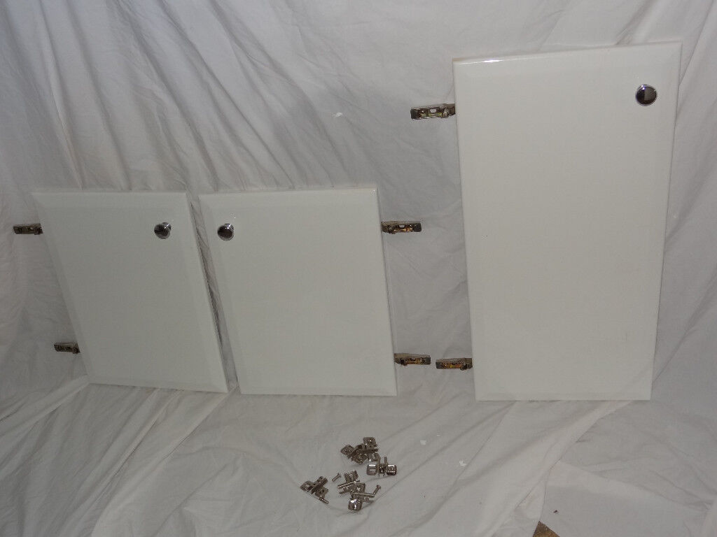 Doors Set of 3 with White Gloss Finish,