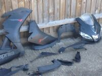 Rs4 125 full fairing set only a couuple parts damaged