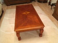 Great looking coffee table bought in Ideagl Home Exhibition made in solid wood.