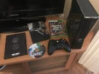 XBox 360 Slim 250GB Console + 3 Games + Headset