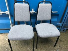 2 office stacking chairs with FREE DELIVERY PLYMOUTH AREA