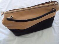 ZARA BASICS Classic tan/black handbag