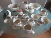 Handmade Local Artist Kitchen Table Set, Jug, Mugs, Plates, Teapot etc
