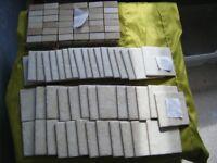 Box of unused tiles