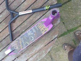 pheonix Stunt scooter deck and bars