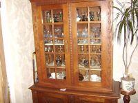 Vintage Oak Dutch Bookcase