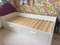 IKEA Single/double bed with 2 drawers & 2 mattresses
